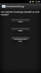 Sony Xperia J - E-Mail - Konto einrichten - Schritt 6