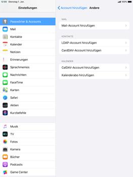 Apple iPad Air 2 - ipados 13 - E-Mail - Manuelle Konfiguration - Schritt 6