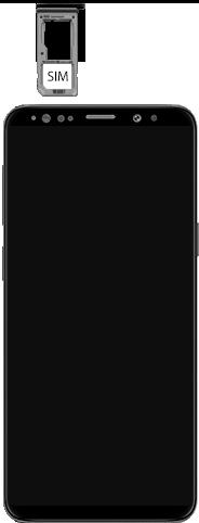 Samsung Galaxy S9 Android Pie - Appareil - comment insérer une carte SIM - Étape 4