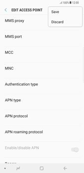 Samsung Galaxy Note 8 - MMS - Manual configuration - Step 15