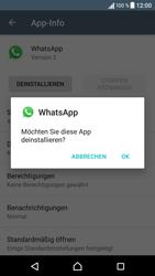 Sony Xperia XA - Apps - Eine App deinstallieren - Schritt 7