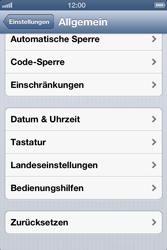 Apple iPhone 4 - Fehlerbehebung - Handy zurücksetzen - 6 / 10