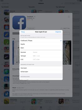 Apple iPad Pro 12.9 inch (Model A1671) - Applicaties - Account aanmaken - Stap 17