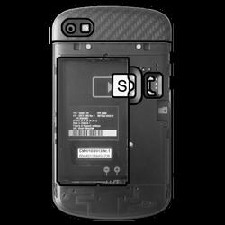BlackBerry Q10 - SIM-Karte - Einlegen - Schritt 3
