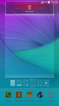 Samsung Galaxy Note 4 - Startanleitung - Installieren von Widgets und Apps auf der Startseite - Schritt 8