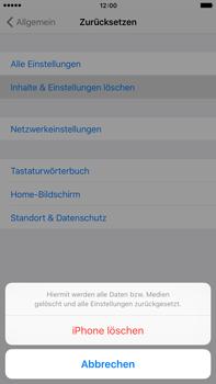 Apple iPhone 6 Plus mit iOS 9 - Fehlerbehebung - Handy zurücksetzen - Schritt 8
