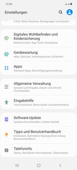 Samsung Galaxy Note 20 5G - Gerät - Zurücksetzen auf die Werkseinstellungen - Schritt 4