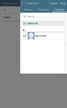 Samsung T335 Galaxy Tab 4 8-0 - E-mail - Sending emails - Step 7