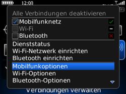 BlackBerry Curve - Ausland - Auslandskosten vermeiden - 6 / 9
