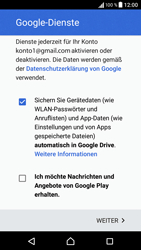 Sony F3111 Xperia XA - Apps - Konto anlegen und einrichten - Schritt 17
