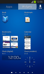 Samsung Galaxy Trend Lite - Getting started - Installing widgets and applications on your start screen - Step 7