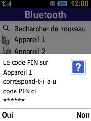Samsung B550H Xcover 550 - Bluetooth - connexion Bluetooth - Étape 12