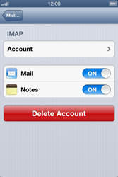 Apple iPhone 4 S - E-mail - Manual configuration IMAP without SMTP verification - Step 15