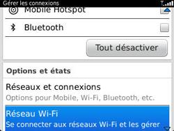BlackBerry 9320 - Internet et connexion - Accéder au réseau Wi-Fi - Étape 4