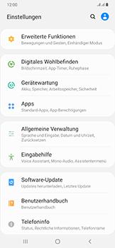 Samsung Galaxy A50 - Startanleitung - So fügen Sie eine Tastatursprache hinzu - Schritt 4
