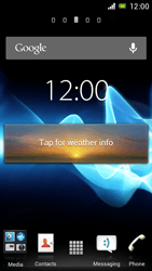 Sony Xperia J - Getting started - Installing widgets and applications on your start screen - Step 6