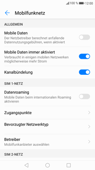 Huawei Mate 9 - Internet und Datenroaming - Prüfen, ob Datenkonnektivität aktiviert ist - Schritt 5