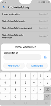 Huawei P20 Pro - Anrufe - Rufumleitungen setzen und löschen - 7 / 9