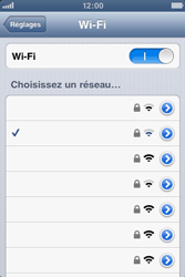 Apple iPhone 3GS - WiFi - Configuration du WiFi - Étape 9