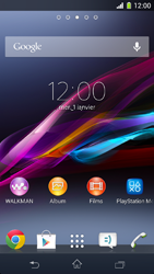 Sony Xperia Z1 Compact - Solution du problème - Applications - Étape 1