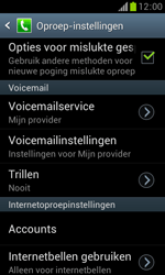 Samsung S7560 Galaxy Trend - Voicemail - Handmatig instellen - Stap 6