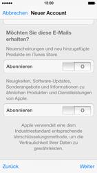 Apple iPhone 5s - Apps - Konto anlegen und einrichten - 0 / 0