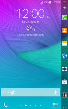 Samsung Galaxy Note Edge - Internet - Automatische Konfiguration - 1 / 2