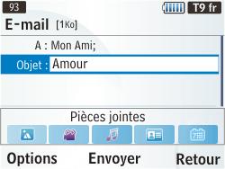 Samsung S3350 Chat 335 - E-mail - envoyer un e-mail - Étape 6