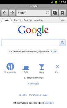 Samsung N7000 Galaxy Note - Internet - navigation sur Internet - Étape 6