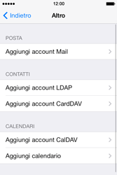 Apple iPhone 4S iOS 7 - E-mail - configurazione manuale - Fase 10