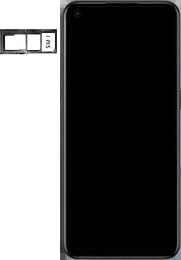 Oppo A53s - Premiers pas - Insérer la carte SIM - Étape 4