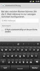 Sony Xperia S - E-Mail - Manuelle Konfiguration - Schritt 5