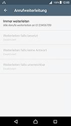 Sony Xperia X (F5121) - Android Nougat - Anrufe - Rufumleitungen setzen und löschen - Schritt 8