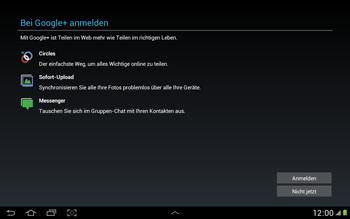 Samsung N8000 Galaxy Note 10-1 - Apps - Konto anlegen und einrichten - Schritt 11