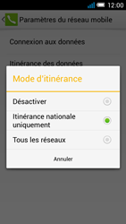 Alcatel One Touch Idol Mini - Internet et roaming de données - Désactivation du roaming de données - Étape 7