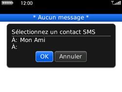 BlackBerry curve 3G - Contact, Appels, SMS/MMS - Envoyer un SMS - Étape 9