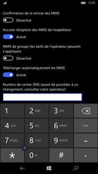 Microsoft Lumia 950 XL - SMS - configuration manuelle - Étape 7