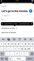 Apple iPhone 7 - iOS 13 - Email - Sending an email message - Step 10