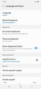 Samsung Galaxy A50 - Getting started - How to add a keyboard language - Step 6