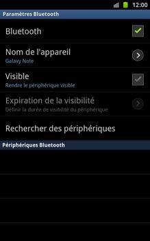 Samsung N7000 Galaxy Note - Bluetooth - connexion Bluetooth - Étape 11