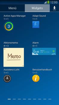 Samsung Galaxy Note III LTE - Startanleitung - Installieren von Widgets und Apps auf der Startseite - Schritt 7