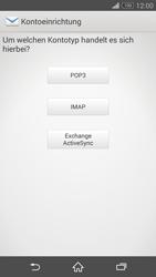 Sony D5803 Xperia Z3 Compact - E-Mail - Konto einrichten - Schritt 7