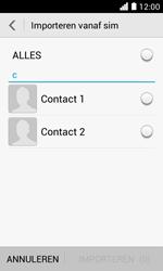 Huawei Ascend Y330 - Contacten en data - Contacten kopiëren van SIM naar toestel - Stap 6