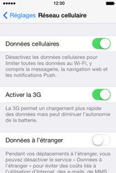 Apple iPhone 4 S iOS 7 - Internet - Désactiver les données mobiles - Étape 4