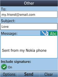Nokia C2-05 - E-mail - Sending emails - Step 10