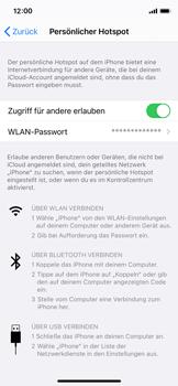 Apple iPhone X - iOS 14 - WiFi - So aktivieren Sie einen WLAN-Hotspot - Schritt 8