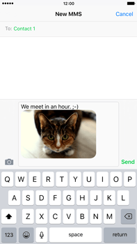 Apple iPhone 6s Plus - MMS - Sending pictures - Step 12