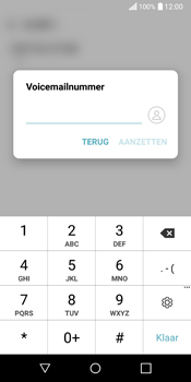 LG Q6 - voicemail - handmatig instellen - stap 7