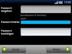 Sony Ericsson Xperia X10 Mini Pro - Apps - Konto anlegen und einrichten - 10 / 19