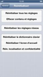Apple iPhone 5 - Téléphone mobile - Réinitialisation de la configuration d
